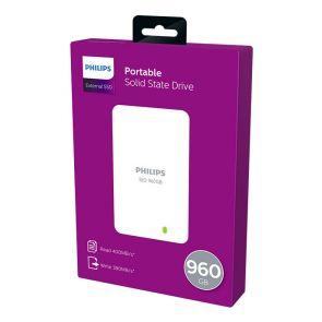 Philips External SSD 960GB, USB3.0, white