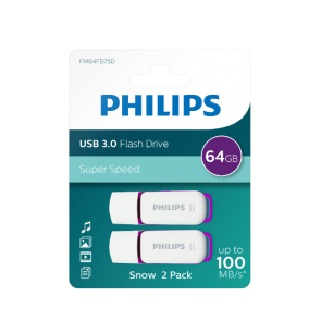 Philips USB flash drive Snow Edition 64GB, USB3.0, 2-pack