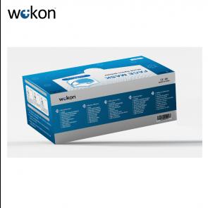 WOKON Mondkapje, 3-laags, Neusbeugel, (BFE) ≥ 95%, 50-pack